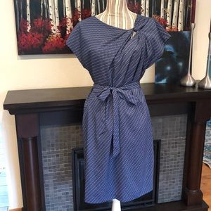 Blue Patterned Dress